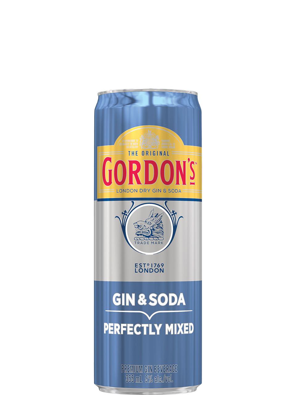 Gordon's London Dry Gin & Soda 355ml Can