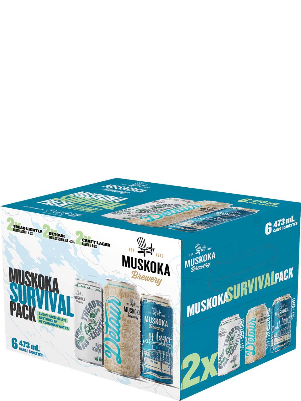 Muskoka Survival Mixer 6 Pack Cans