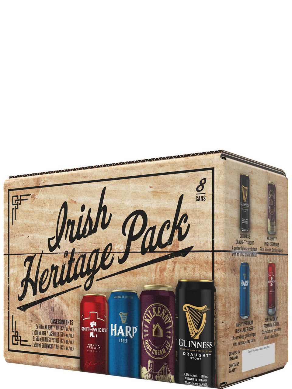 Irish Heritage Pack 8 Pack Cans
