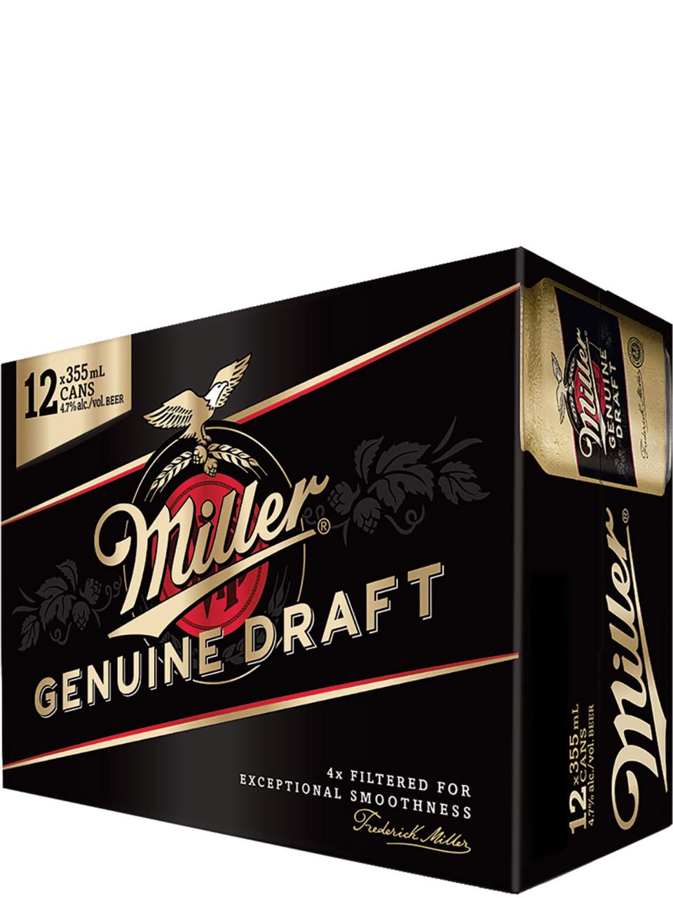 Miller Genuine Draft 12 Pack Cans