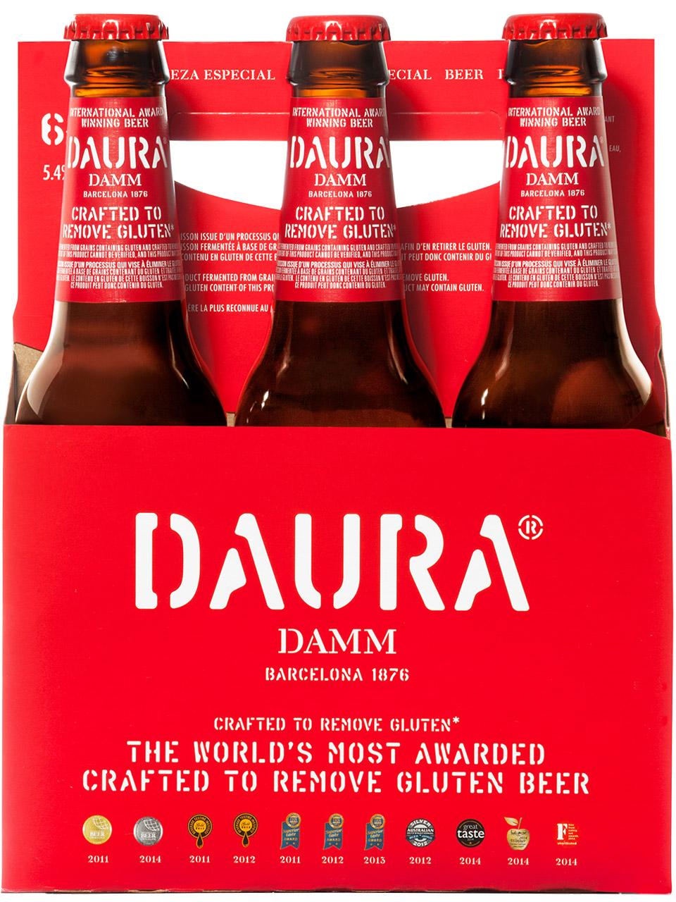 Daura Damm 6 Pack Bottles