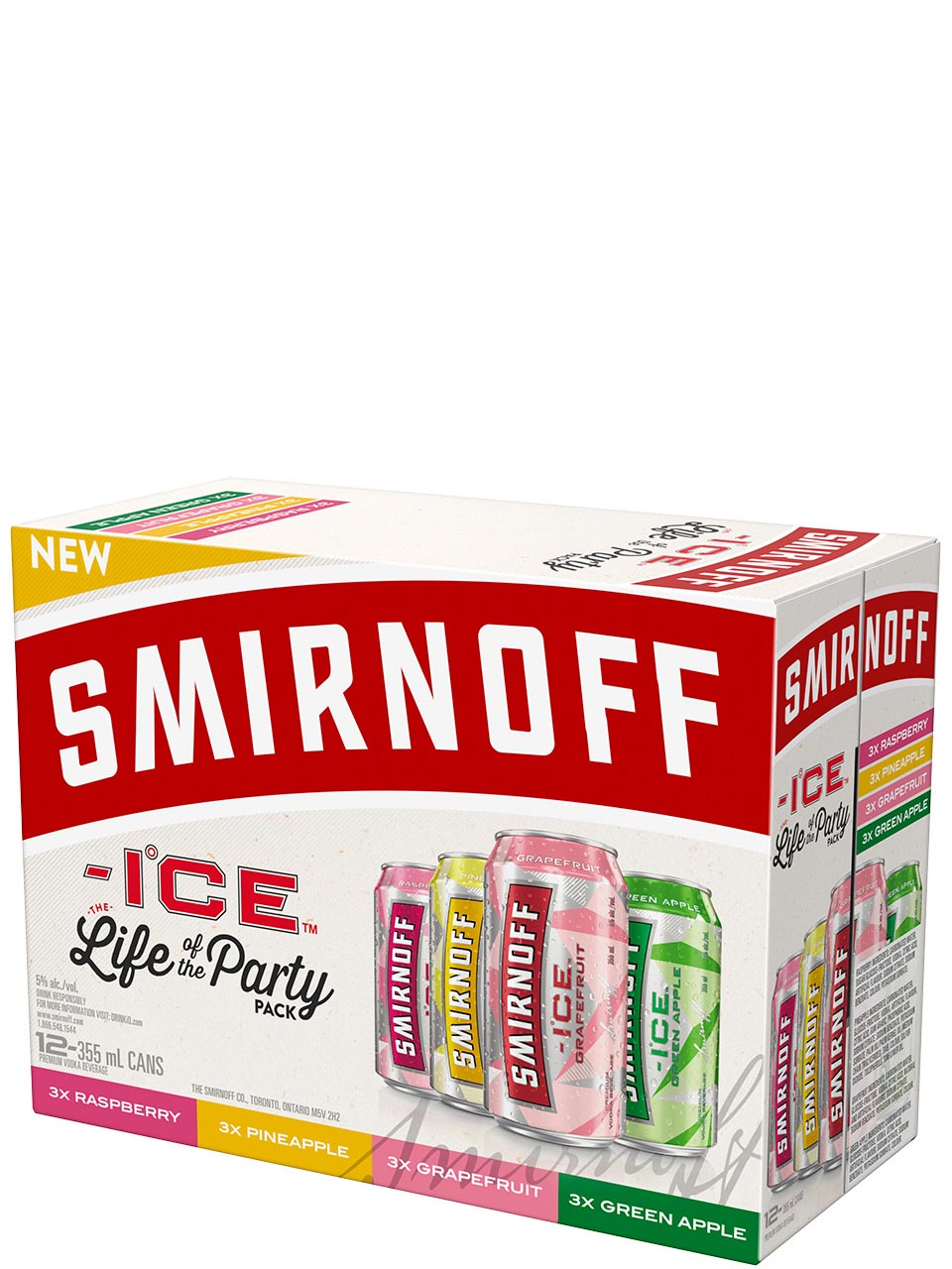 Smirnoff Ice Flavors Party Pack 12 Pack Cans