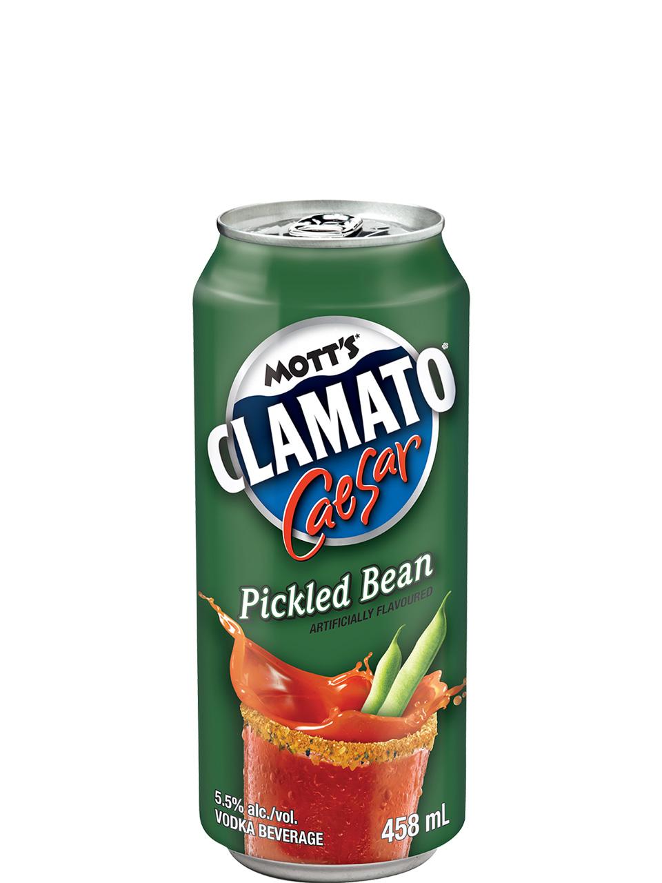 Mott's Clamato Caesar Pickled Bean 458ml Can