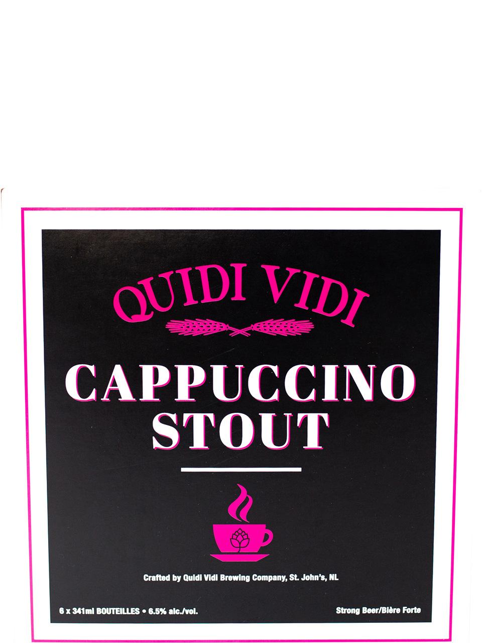 Quidi Vidi Cappuccino Stout 6 Pack Bottles