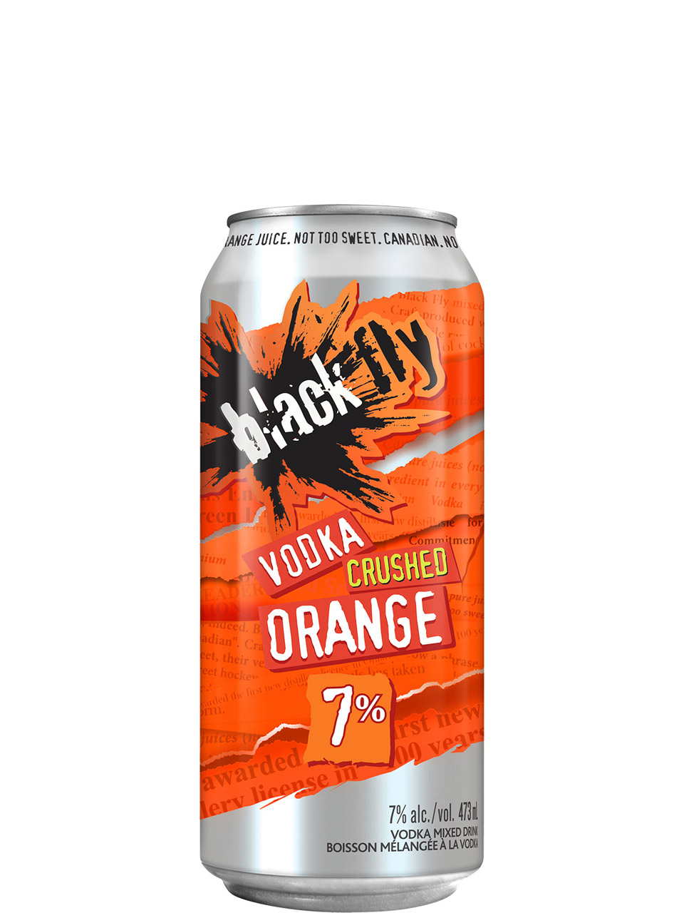 Black Fly Vodka Crushed Orange 473ml Can