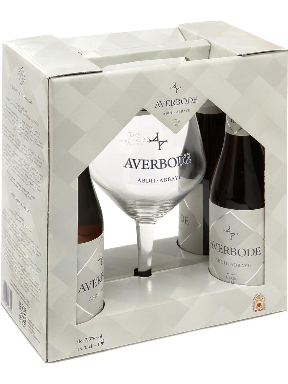 Averbode Blond 4 Pack Btls with Collectors Glass