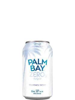 Palm Bay ZERO Blackberry Lemon 6 Pack Cans