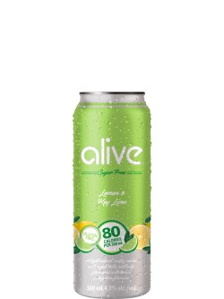Alive by Vodka 0 Lemon & Key Lime 4pk
