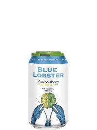 Blue Lobster Vodka Soda Lemon Lime 6 Pack