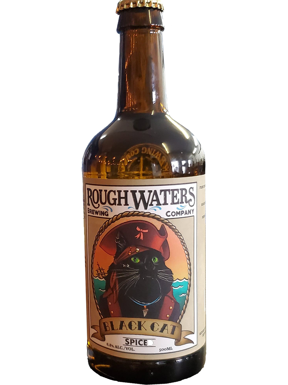 Rough Waters Black Cat 500ml Bottle