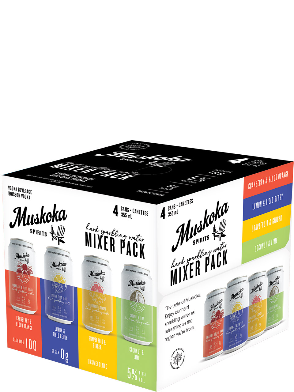 Muskoka Spirits Hard Sparkling Water Mix Pack 4pk