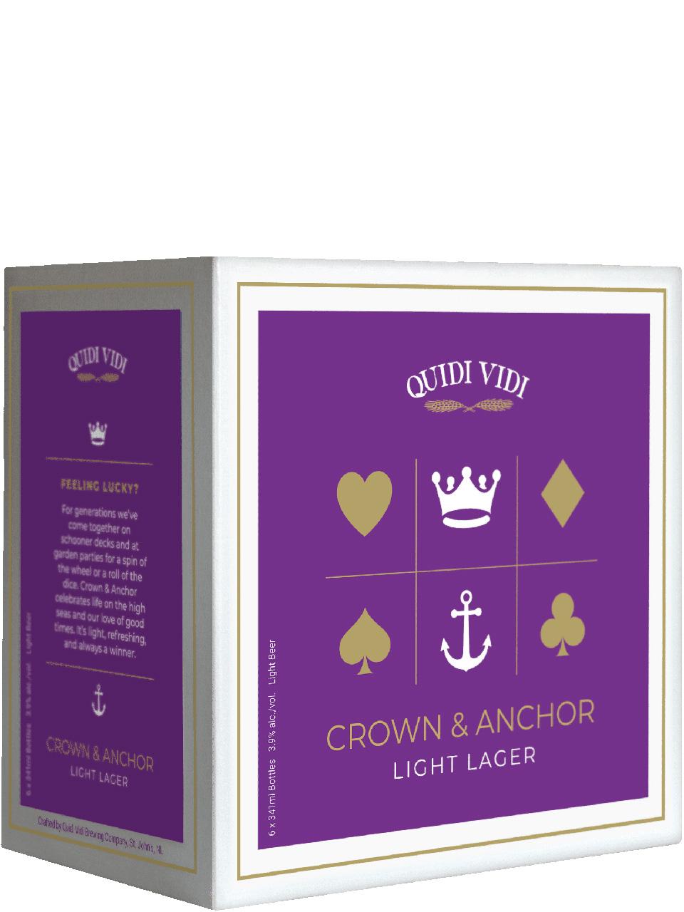 Quidi Vidi Crown & Anchor Light Lager 6pk Btls