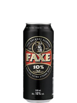 Faxe Extra Strong 10% Beer 500ml Can