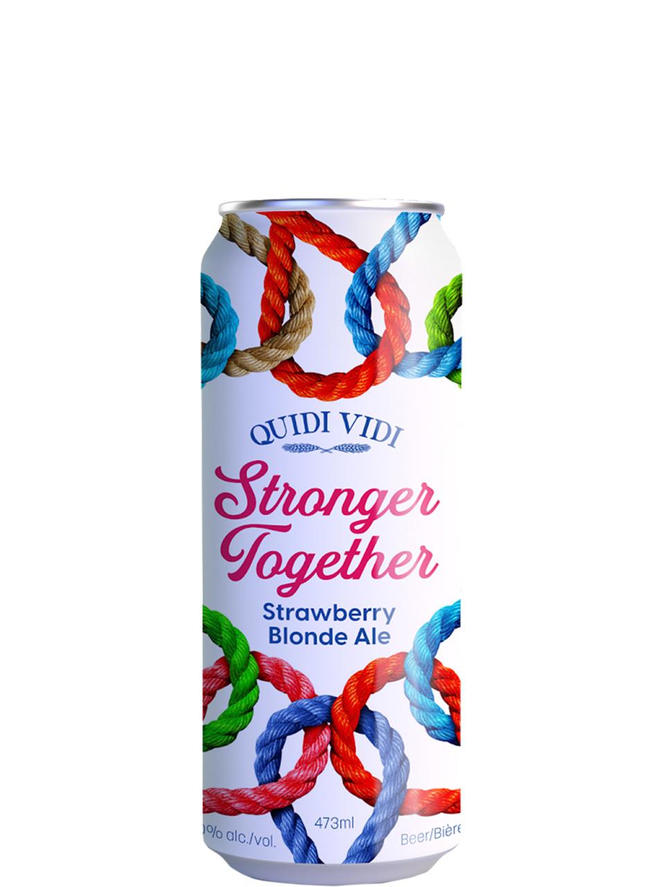 Quidi Vidi Stronger Together Strawberry Blonde Ale