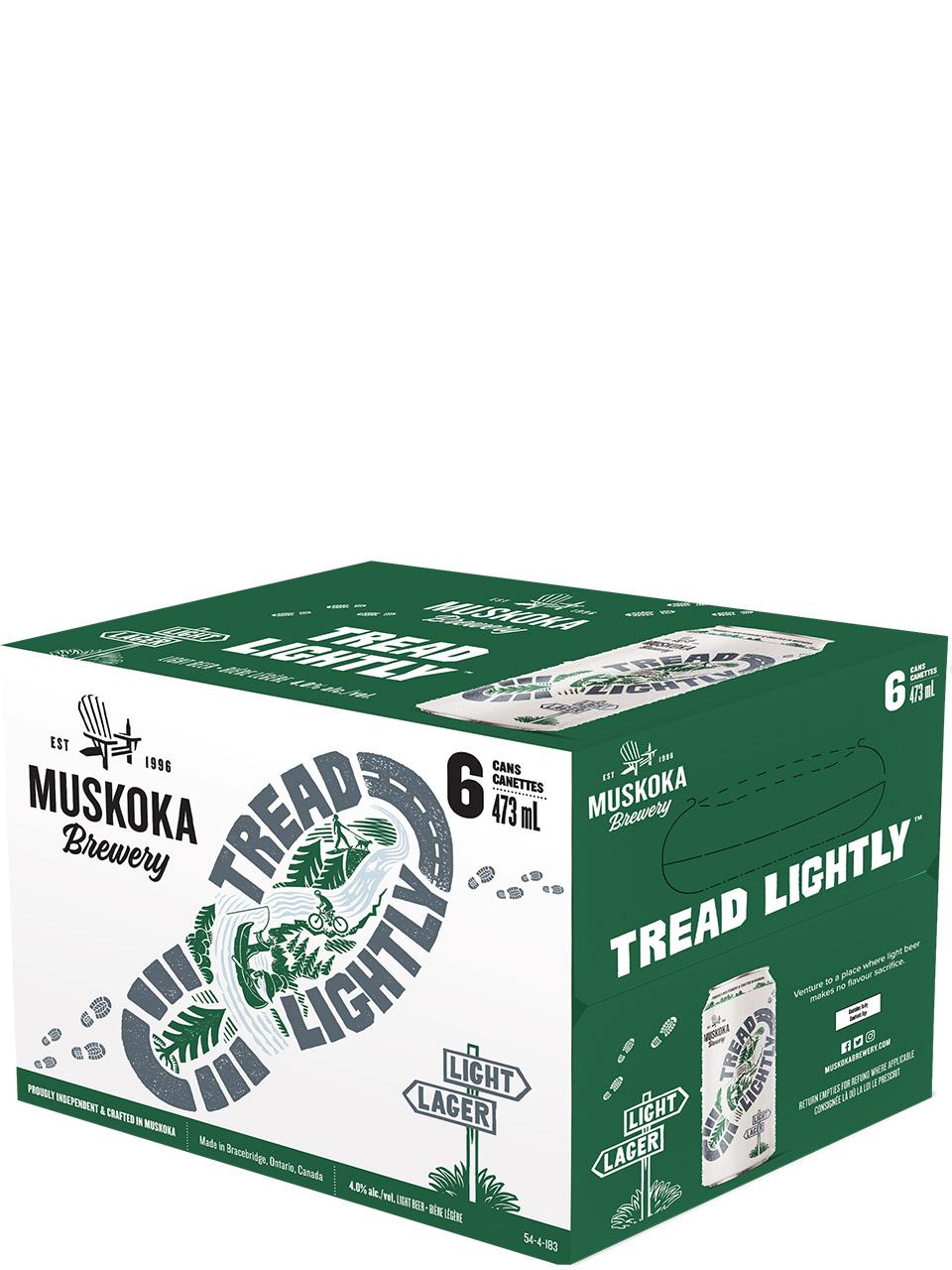 Muskoka Tread Lightly Light Lager 6 Pack Cans