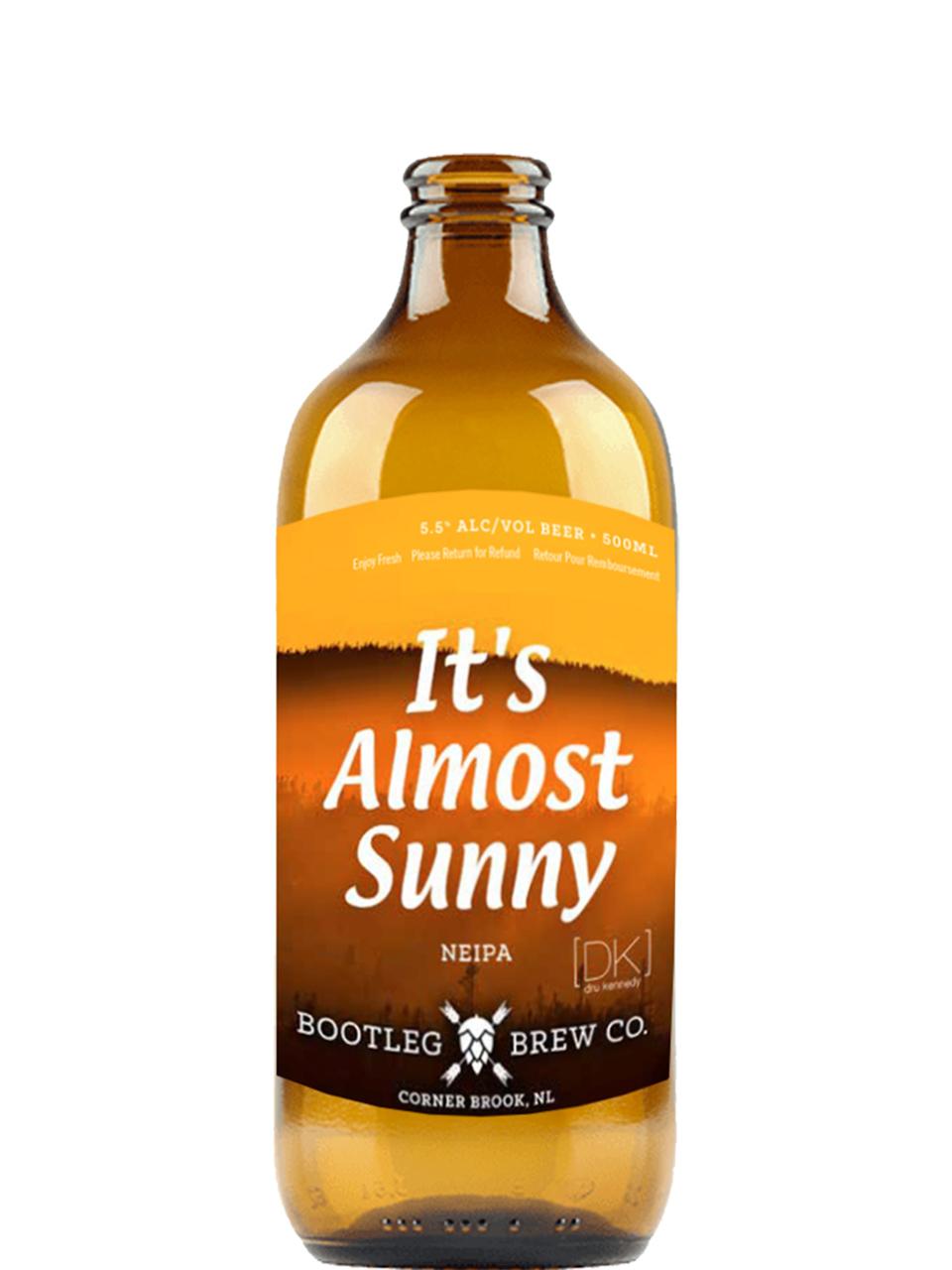 Bootleg It's Almost Sunny IPA 500ml Bottle