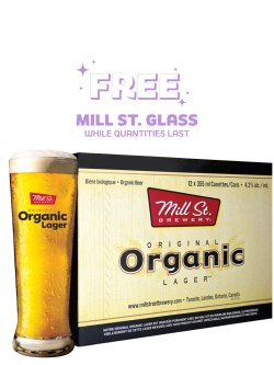 Mill St.Organic Lager 12 Pack Cans