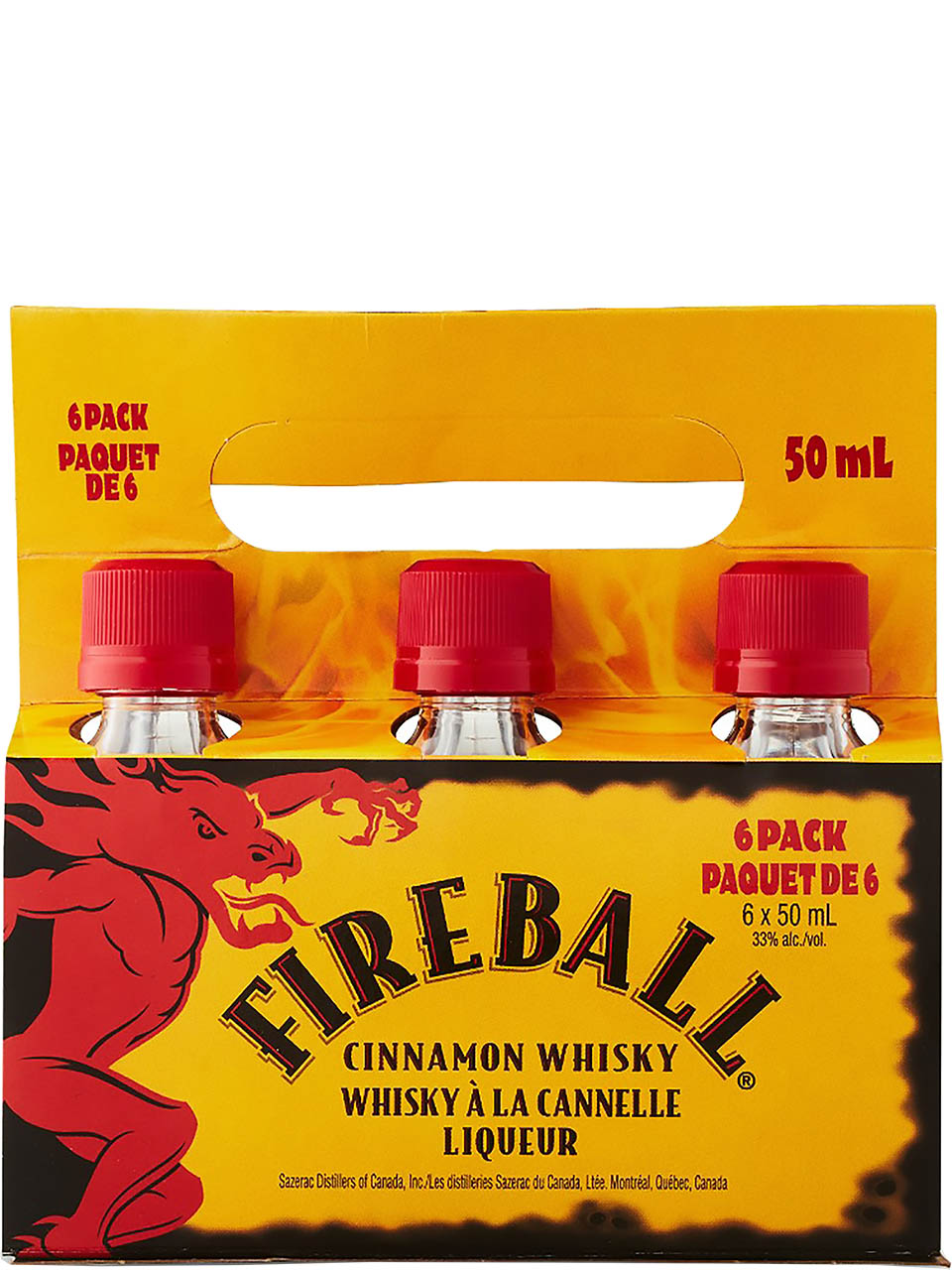 Fireball Cinnamon Whisky Cold Carrier 6 Pack
