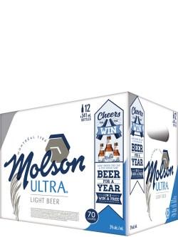 Molson Ultra 12 Pack Bottles