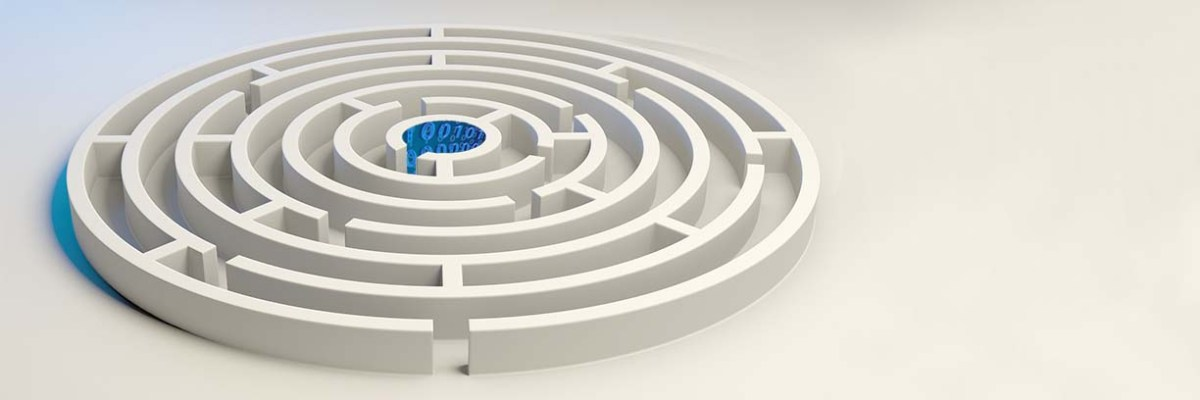 Data science challenges represented by a circular maze