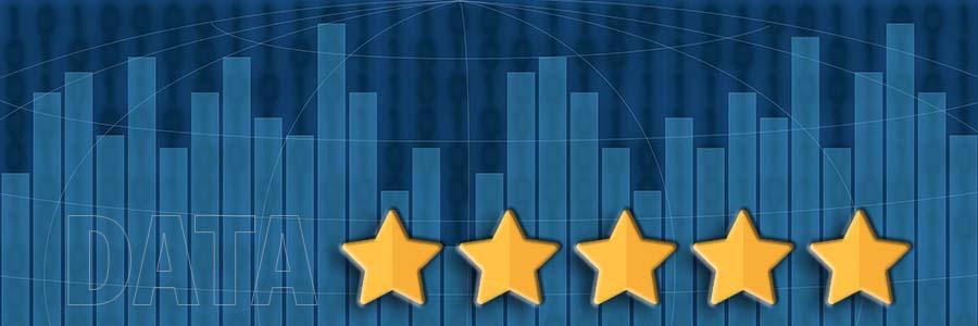bar graph bearing 5 stars reflecting its quality