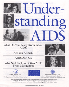 The cover of the Understanding AIDS brochure.
