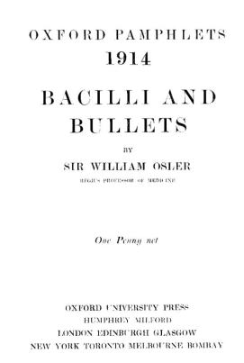The cover of Bacilli and Bullets