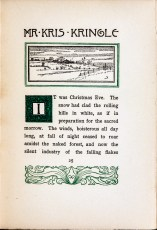 Decorative first page with an engraving of a snowy landscape, an embellished first letter and decorative scrollwork.