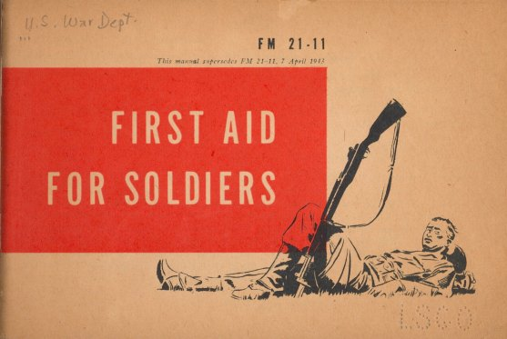 Cover of pamphlet: First Aid for Soldiers.