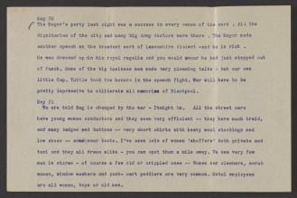 A typwritten journal page dated May 20.