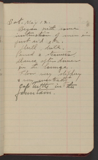 Dr. Blankenhorn diary page for May 12, 1917.