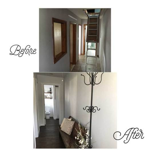 Hallway - Before & After Renovations