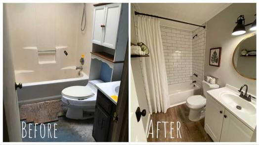 2nd Bathroom - Before & After Renovations