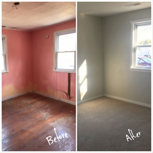 Bedroom 3 - Before & After Renovations