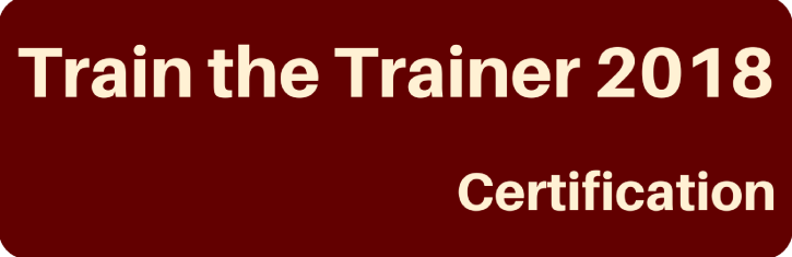 Train the Trainer 2018 Certification