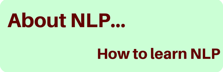 How to learn NLP