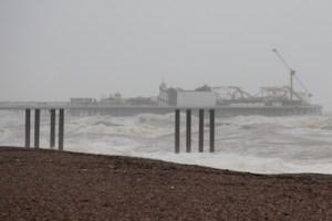 Heavy seas in Brighton