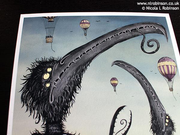 Birds in the park © Nicola L Robinson Illustration promo flyer SCBWI