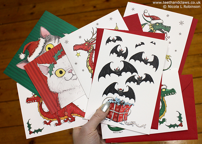 Christmas Cards, Dragons, Cats, Bats © Nicola L Robinson