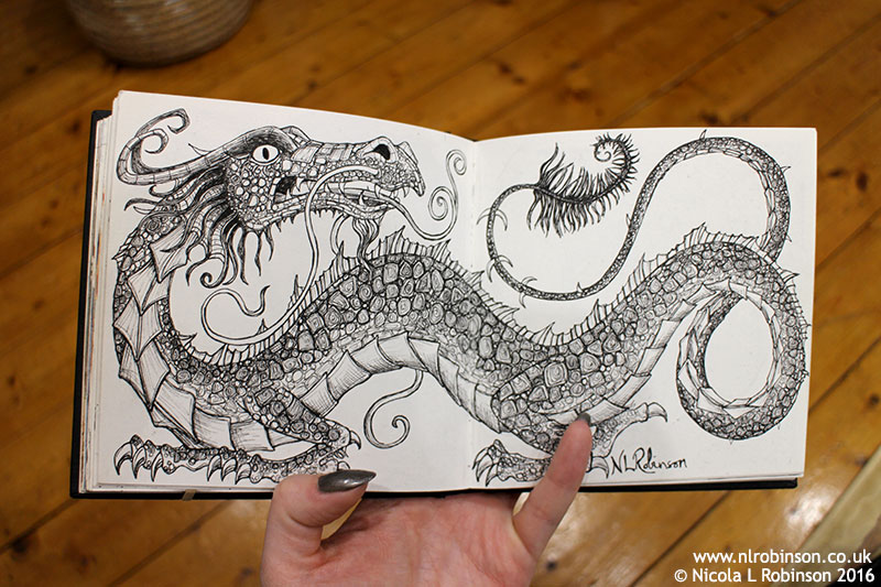 Sketchbook Dragon illustration © Nicola L Robinson