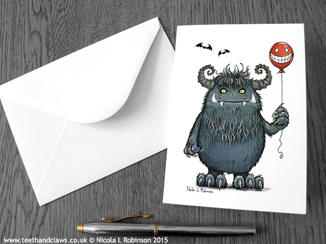 Monster illustration © Nicola L Robinson All rights reserved www.teethandclaws.co.uk
