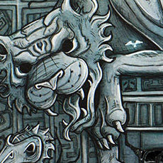 Jungle doorway illustration © Nicola L Robinson