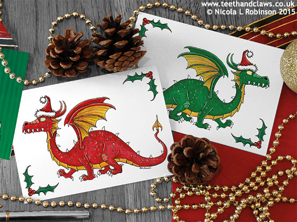 Christmas cards © Nicola L Robinson All rights reserved www.teethandclaws.co.uk
