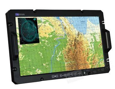 LCD display engineered for deployment on military aircraft