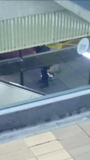Unidentified debris lays on the ground inside the crime scene at Scarborough Town Centre's transit terminal on September 23, 2016. Photo by Peter Paul.