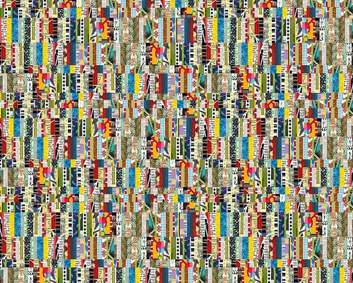 mixed strips collage gall