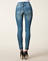 Jeans , Funky Old Worn Higwaist , Pieces - NELLY.COM