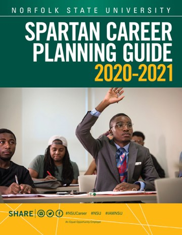 Norfolk State University's Spartan Career Planning Guide cover image.