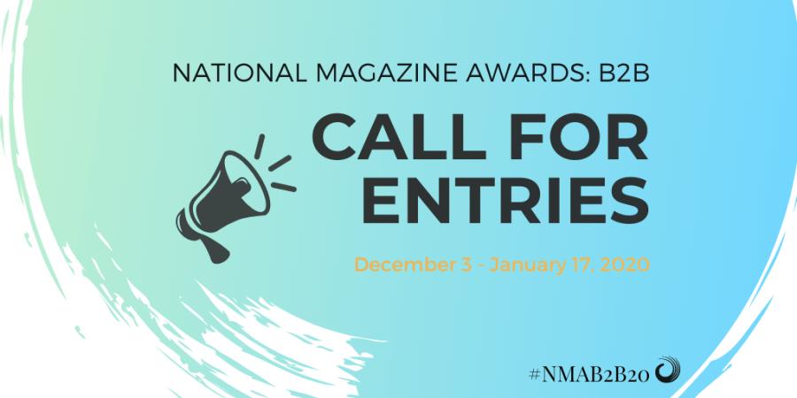National Magazine Awards: B2B call for entries.