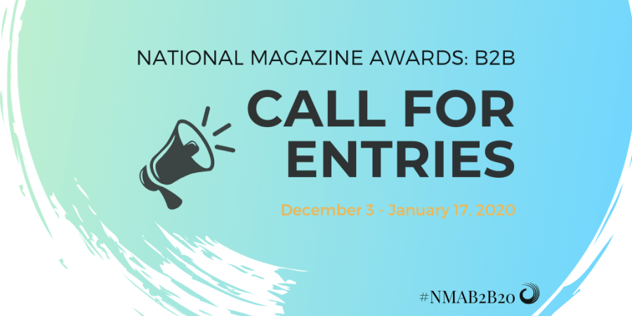 National Magazine Awards: B2B call for entries.